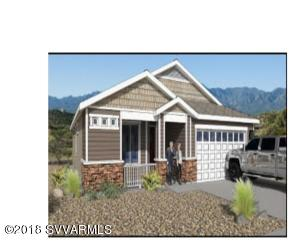 Brand new craftsman style home in the centrally located Crossroads neighborhood. Three bedroom split floor plan with a large beautiful kitchen and granite countertops. Covered rear patio and fenced rear yard has engaging views of the Verde Valley and the Red Rocks of Sedona. Large two car attached garage. Fire sprinkler system. Estimated completion date 5-24-18. For 1,560 Plan with 3 Bdrm, 2 Bath & 2 Car GarageTotal Sq. Ft. under roof 2285Livable Sq. Ft. 1561Garage Sq. Ft.   476Front Porch Sq.Ft.  126Rear Patio Sq. Ft         122