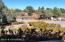 View from front of home. Wow! 2.1 acres of land right in West Sedona.