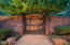Entry gate to your private Sycamore Oasis.