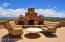 Outdoor Gas Fireplace and seating areas