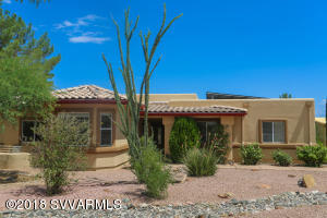 Take a look at this beautiful 3 bedroom, 2 bath home on desirable Old Jerome Highway. With beautiful Mingus Mountain and the Sedona Red Rocks in sight, the views from this home are incredible. Sitting on .81 acres, there is plenty of parking space and room for your toys. The interior includes granite counter tops in the kitchen and gorgeous laminate flooring in the main living area. Over-sized 2 car garage. Complete with owned solar panels, making for next to nothing electricity bills. This amazing home doesn't disappoint!