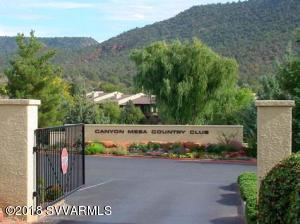 Canyon Mesa Country Club gated entrance with unlimited golf, tennis, pool and spa.
