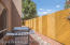 Custom fencing surrounds the whole backyard & side yard.