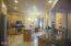 Huge kitchen with gorgeous granite counters and knotty alder cabinetry.