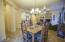 Rubbed bronze chandelier