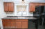 Kitchen with window box