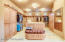 Massive well appointed walk in closet in master
