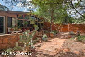 Howard Madole designed this home which was built in 1955. Madole first moved to Sedona when the population was approximately 350 people.