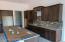 Kitchen backsplash installed
