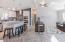 kitchen , hall way, living area