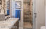 Master bathroom/spacious tiled shower