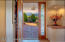 Foyer with Leaded Glass Panel