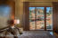 Large Patio doors with views of Thunder Mountain