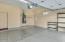 Spacious garage with epoxy floors