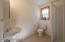 Convenient downstairs bath with shower!
