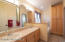 Master Bath includes double sinks and plenty of cabinets for linens,etc.