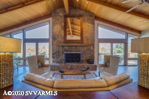 Outstanding Rock Fireplace