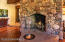 Fireplace with quartz crystal chamber
