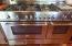 Bertazzoni gas range and professional hood