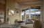 Main living room with 180 degree red rock views