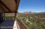 Red rock views from main covered deck