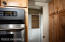 Double wall oven and walk in pantry