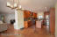 The living room meanders nicely into a large dining room with an excellent lighting fixture - and then work your way toward this great upgraded kitchen