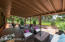 The patio is very good sized with room for a variety of outdoor living furniture options