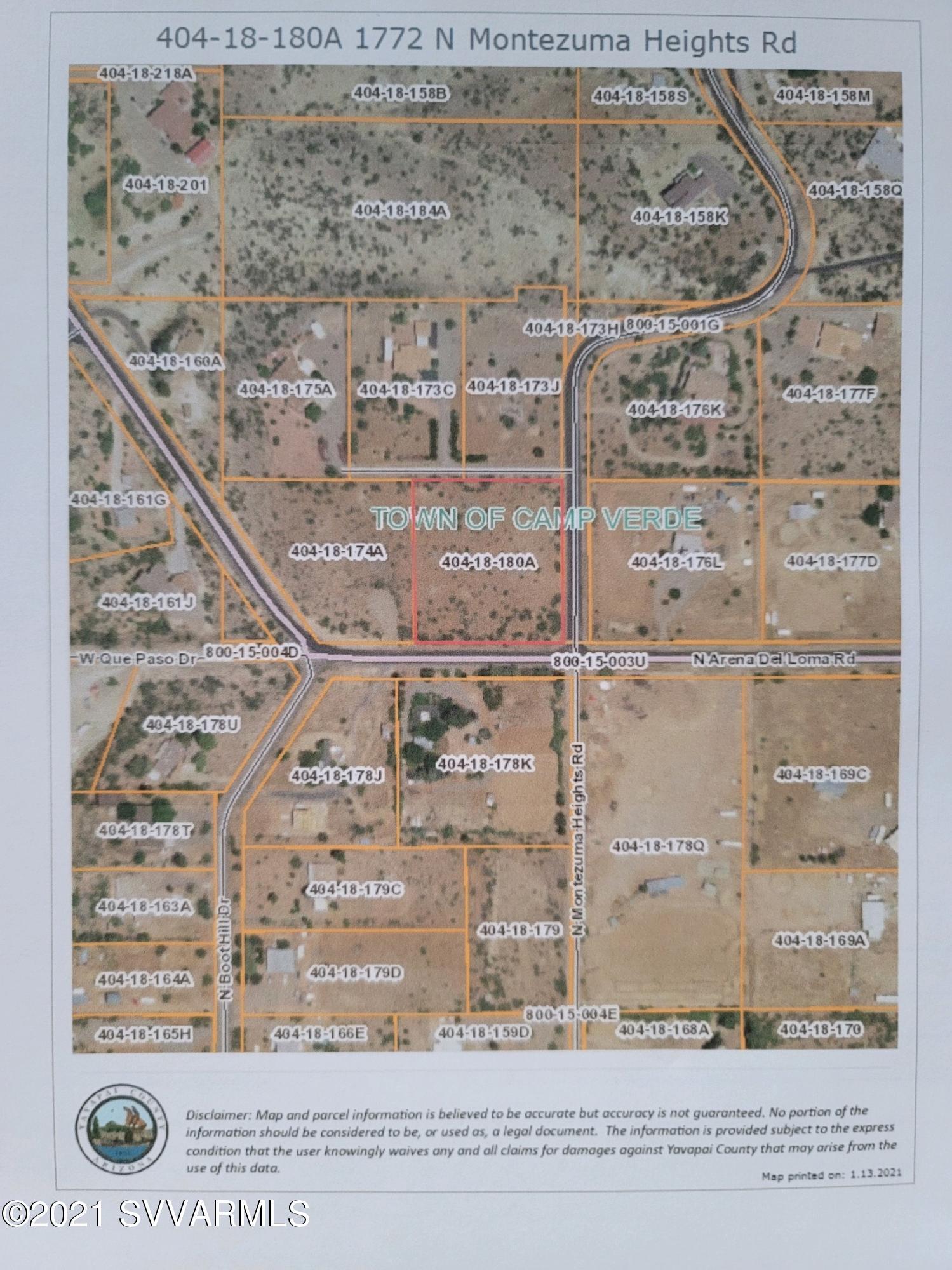 1772 Montezuma Heights Rd Camp Verde, AZ 86322