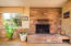 ... and then warm up with on cool nights at the custom built flagstone fireplace...