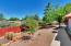 Generously sized backyard