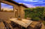 Twilight outdoor dining room