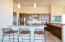 Sit up Bar & Open Kitchen concept with knotty alder cabinetry