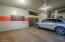 Garage with plentiful storage