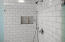 Shower in the master bathroom