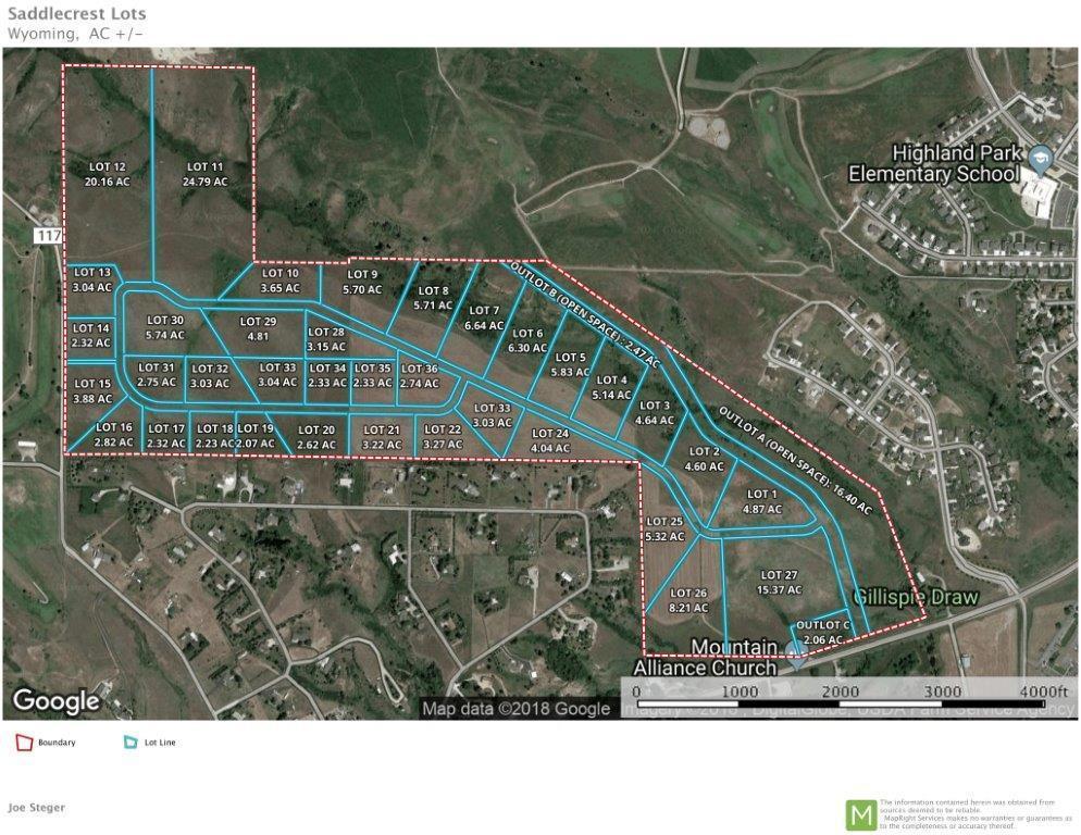SaddleCrest Drive, Sheridan, Wyoming 82801, ,Building Site,For Sale,SaddleCrest,18-1076