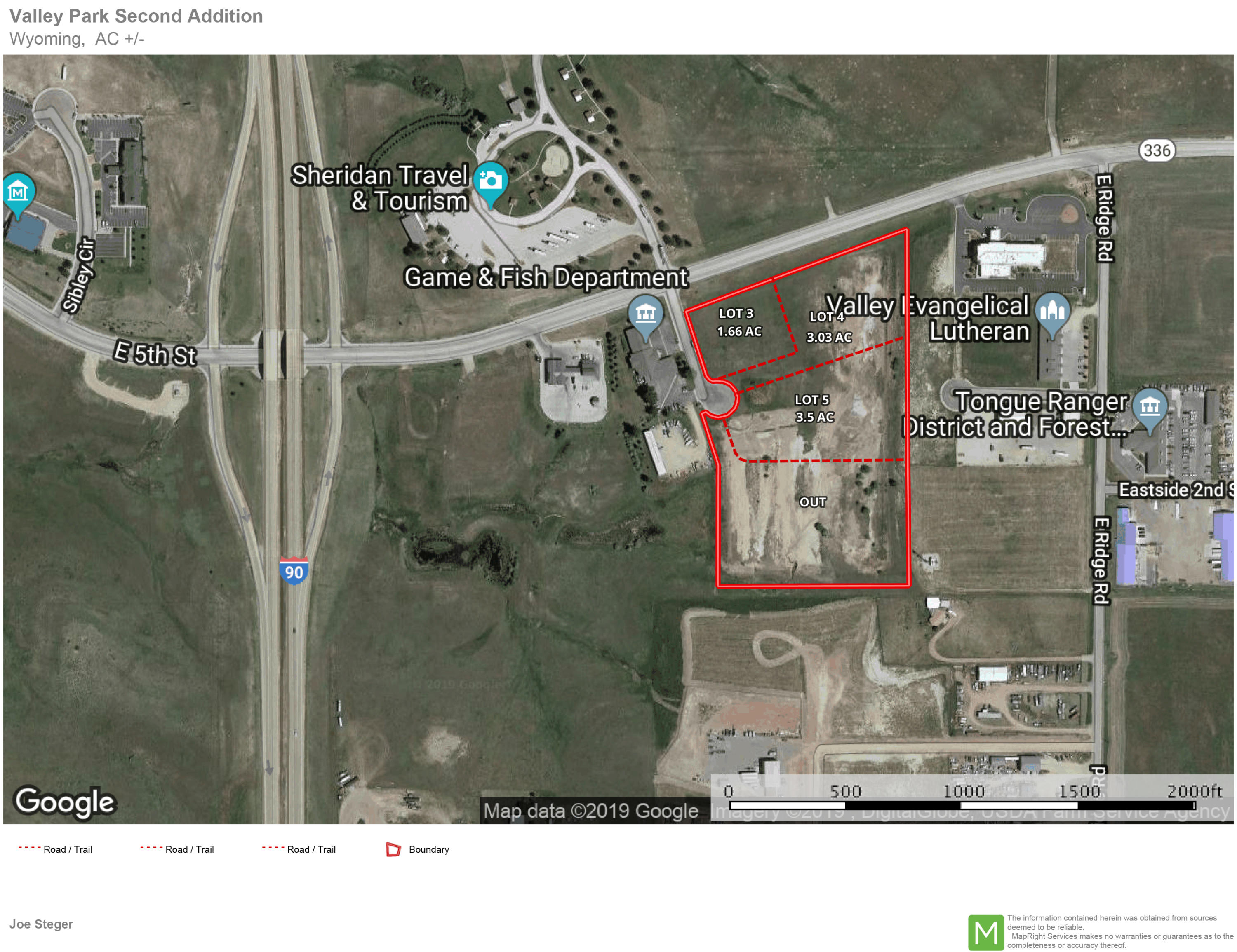 TBD Valley View Drive, Sheridan, Wyoming 82801, ,Commercial,For Sale,Valley View,19-135