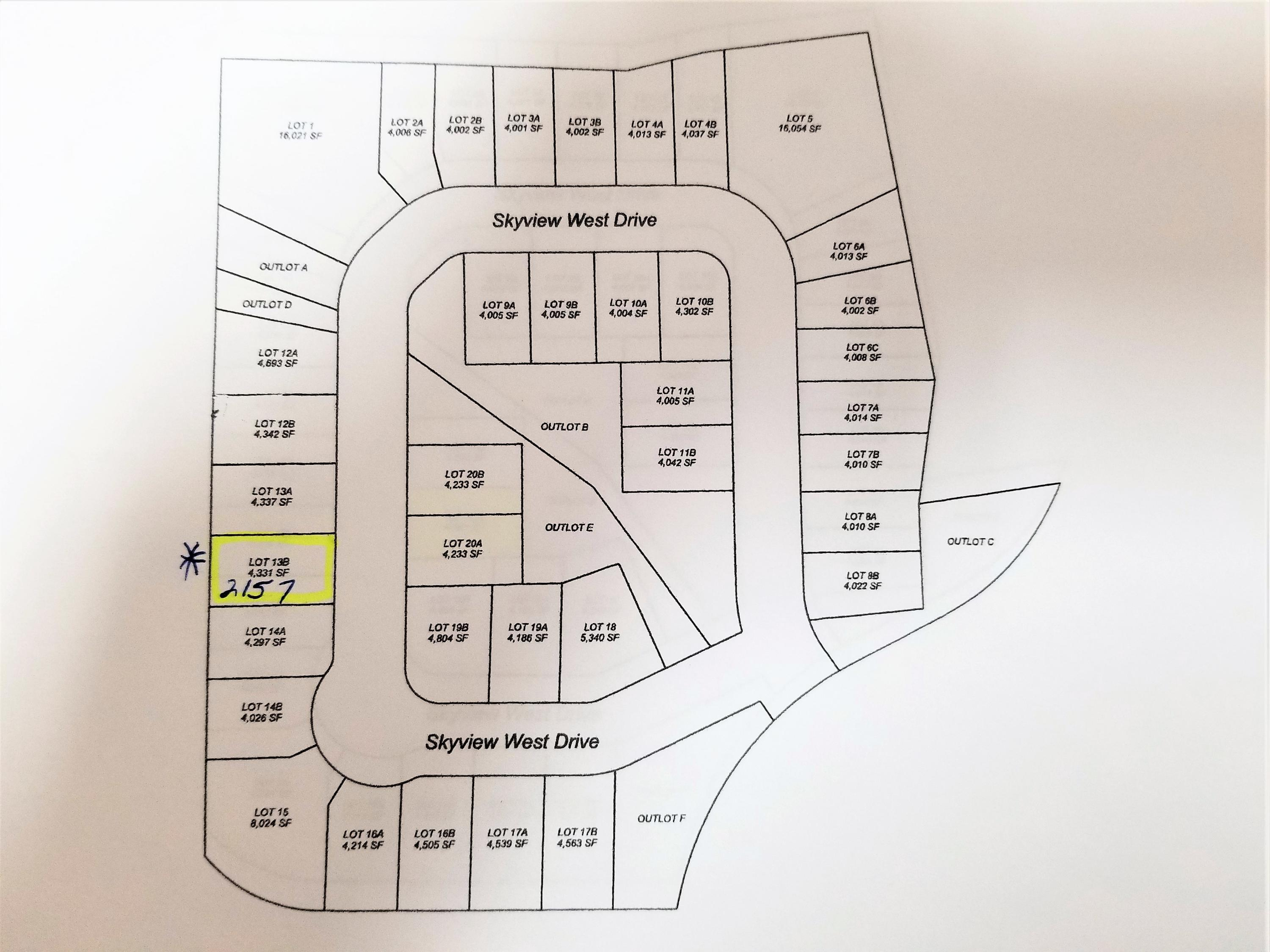 2157 Skyview West Drive, Sheridan, Wyoming 82801, ,Building Site,For Sale,Skyview West,18-1294