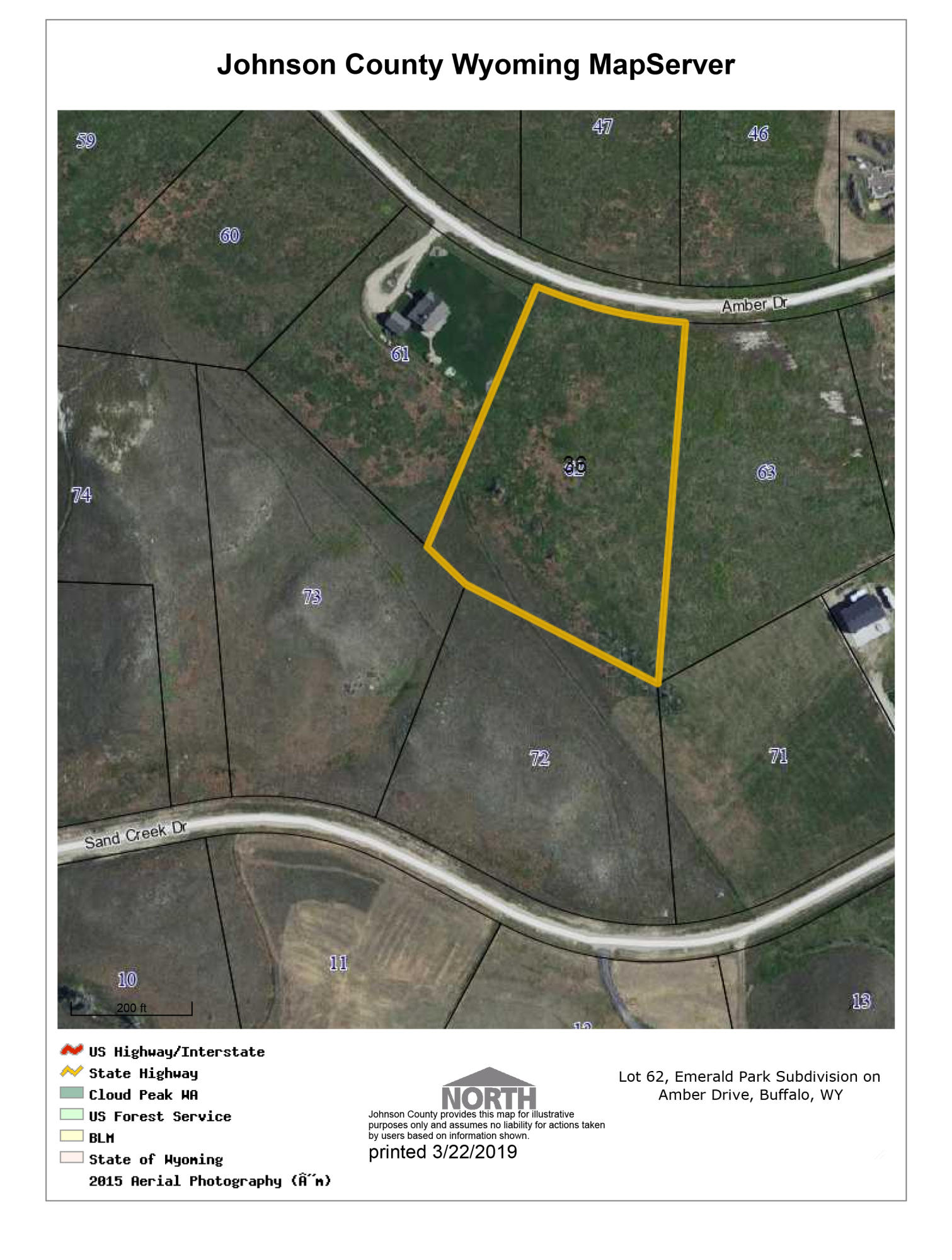 TBD Amber Drive, Buffalo, Wyoming 82834, ,Building Site,For Sale,Amber,19-250