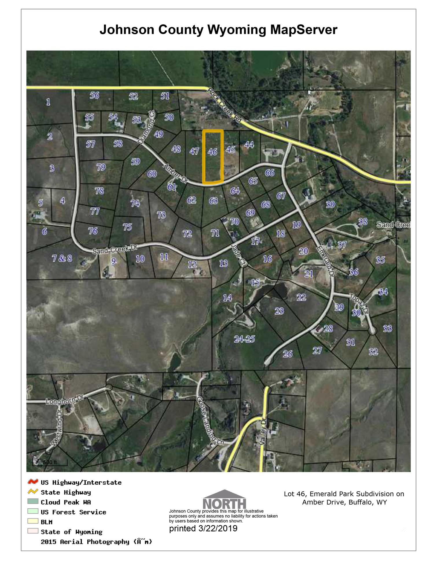 TBD Amber Drive, Buffalo, Wyoming 82834, ,Building Site,For Sale,Amber,19-248