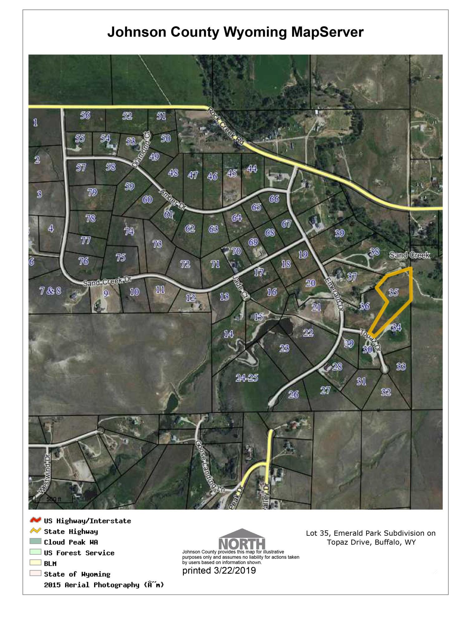 TBD Topaz Drive, Buffalo, Wyoming 82834, ,Building Site,For Sale,Topaz,19-246