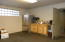 Large back room for breaks, storage or make into another large office