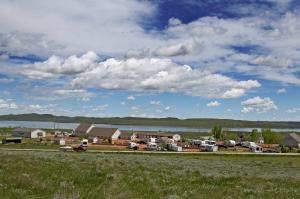 The Lake Stop resort near Buffalo WY on a beautiful day!