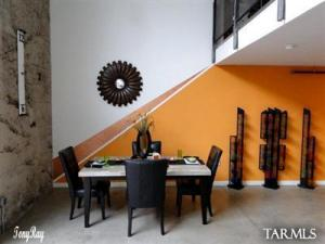 Large Dining area in great room of main loft. Plenty of room for entertaining and seating for many. Ice House Lofts 113