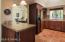 Beautiful kitchen, Saltillo tile, inset lighting, pendant lighting, breakfast