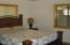 Master bedroom on the main floor.