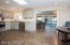 Remodeled kitchen with eat-in breakfast nook. Adjacent to the family room, with a pass-through over the kitchen sink.