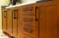 you don't often see cabinets of this quality in a home like this... but it's the cabinetmakers own home.
