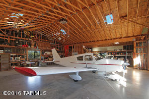 Inside Hangar capable of housing two airplanes