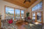 Great Room enjoys great views and access to deck